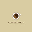 Coffee Africa. Symbol cafe Africa