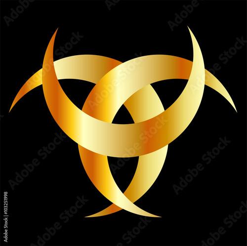 Photo  Horned Triskele- The horn of Odin