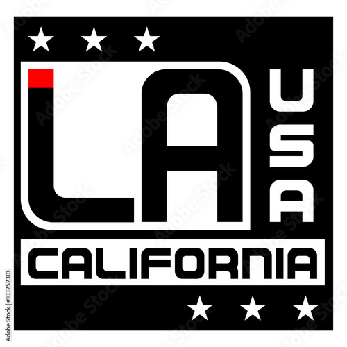 d048e061e Los Angeles city Typography Graphic. Fashion stylish printing design for t  shirt and sports wear. California logo. Label CA. Design for apparel, card,  ...