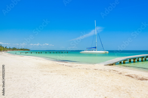 Photo Stands Caribbean Cuba shoreline