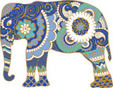 Asian elephant with patterns - 103252748