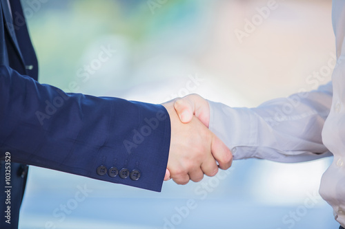 Fotografie, Obraz  the hands of two businessmen in a handshake