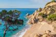 Idyllic Meditteranean beach near Calella at the Costa Brava, Spain.