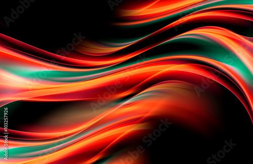 zahipnotyzuj-abstrakcyjne-tlo-z-czerwonymi-zielonymi-liniami-i-falami-kompozycja-cieni-i-swiatel