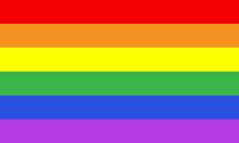 LGBT Gay Pride Colors Flag