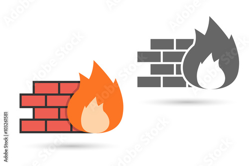 Fotografía  Firewall Icon Vector