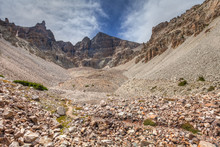 Nevada-Great Basin National Park-Bristlecone-Pine Trail. This Trail Leads Through A Grove Of Old Bristlecones, And  Further Along, Is, An Interesting Glacier And Rocky Area.