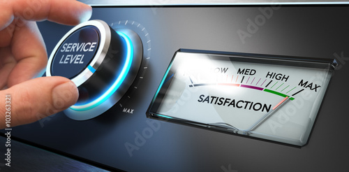 Service Satisfaction Indicator Fototapet