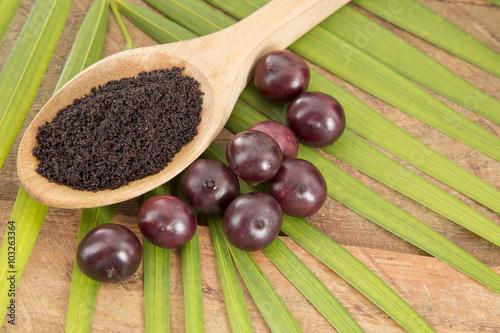 Photo The amazon acai fruit.