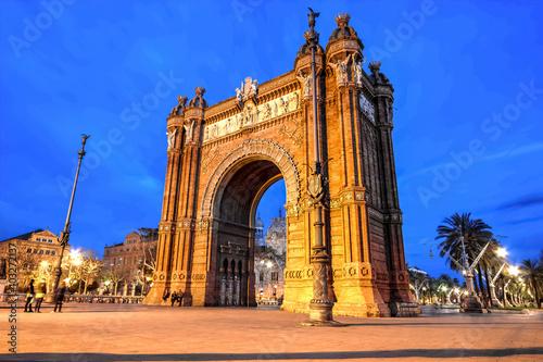 In de dag Barcelona Barcelona - Arch of Triumph