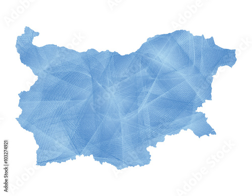 Bulgaria blue abstract map Wallpaper Mural