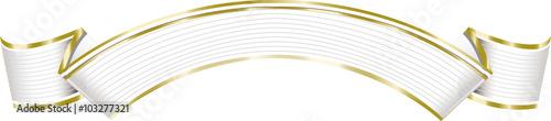 Fotografie, Obraz  Elegant white ribbon banner.