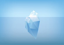 Tip Of The Iceberg Illustration -low Poly /polygon Graphic