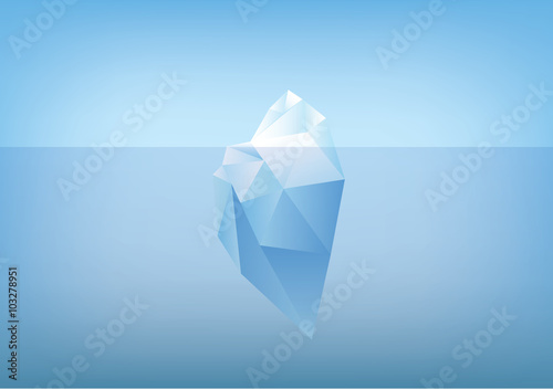 Fotografia tip of the iceberg illustration -low poly /polygon graphic