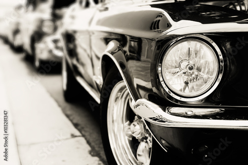 Photo  Classic cars in a row