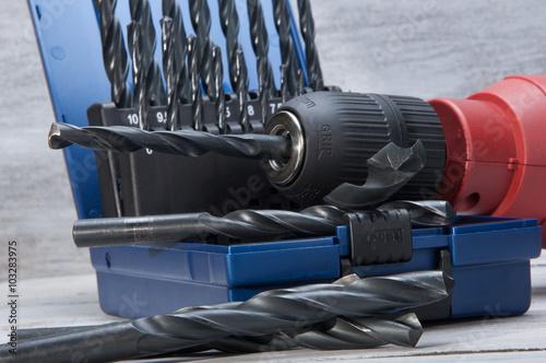 Obraz drill on white boards - fototapety do salonu