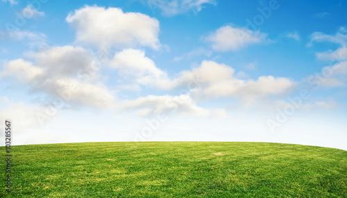 Montage in der Fensternische Gras grass and sky