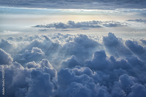 Canvas Prints Heaven Beautiful blue sky background