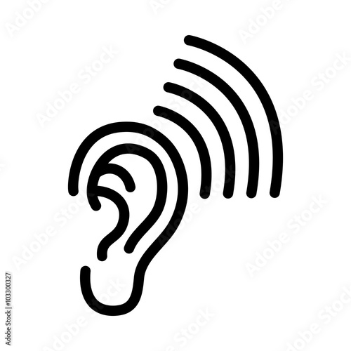 Ear vector icon buy this stock vector and explore - Clipart oreille ...