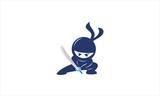 Blue Saber Ninja Logo