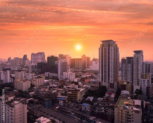 Fototapety, obrazy: sunset Bangkok
