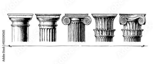 Fotografía  Types of capital. Classical order.