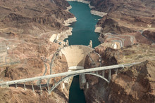 Hoover Dam Aerial View. Aerial...