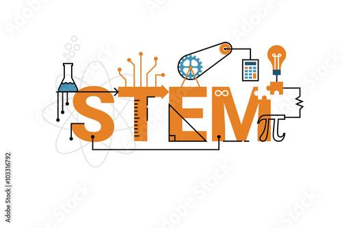 Obraz STEM word typography design - fototapety do salonu