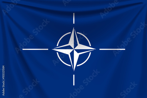 Photo  back flag nato