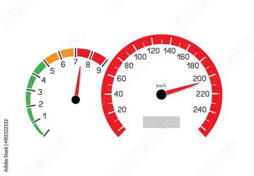 Photo  car speeding limit