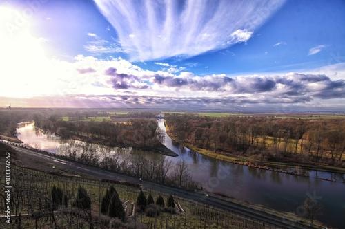 Fotografie, Obraz  Junction of the Vltava and Labe