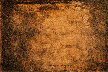Fototapeta background old brown leather texture closeup