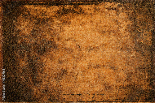 Fotografía  background old brown leather texture closeup