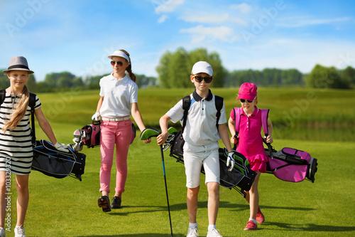 Poster Golf children golf school
