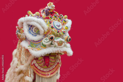 Lion Dance Costume used during Chinese New Year Poster