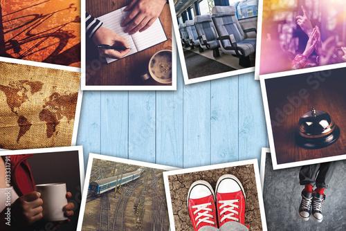 Fototapeta Urban youth lifestyle photo collage obraz