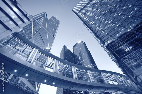 Hong Kong. Toned image of contemporary architecture in Hong Kong.