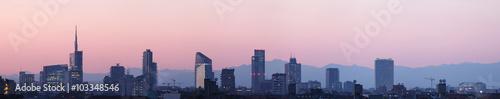 Fototapeta Sky line Milano al tramonto