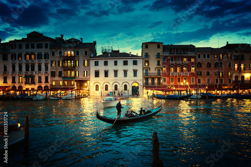 Fotografiet  Grand Canal in sunset time, Venice, Italy