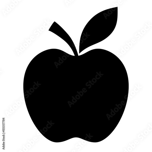 Fototapeta Apple vector shape