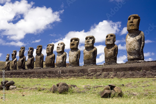 Valokuva  Moais en Isla de Pascua - Tongariki