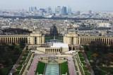 Fototapeta Paryż - Trocadero and La Defence, Paris, France