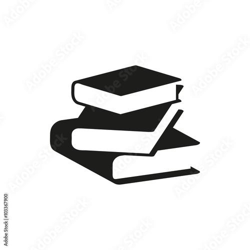 Fotografie, Obraz  black book simple icon