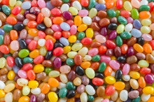 Jelly Beans Candy Background