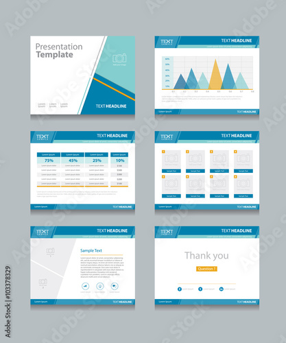 Corporate Powerpoint Design Template: Business Presentation Template Set.powerpoint Template