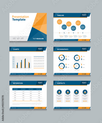business presentation template set.powerpoint template design, Presentation templates