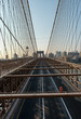 Deserted Brooklyn Bridge at Sunrise, New York, USA