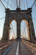 Deserted Brooklyn Bridge Pedestrian Walkway