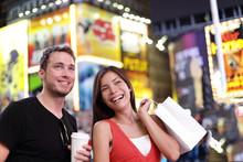Happy Couple Shopping Fun On N...