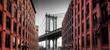 Manhattan Bridge from Washington Street, Brooklyn